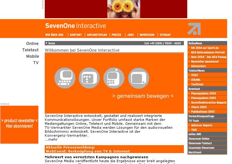 71i (Pro7 / Sat1), Unterstützung bei Konzeption und Datenbankentwurf 2001