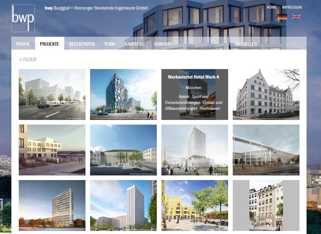 BWP GmbH, München, Website Relaunch mit Typo3