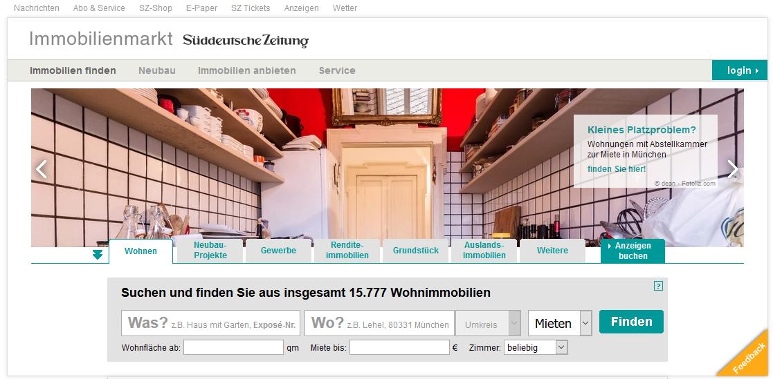 Süddeutsche Zeitung Immobilien, Mitarbeit beim Launch, 2002